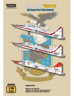 "Wolfpack WD48005,T-38A Talon ""US Naval Test Pilot School(DECALS SET), SCALE 1/48"