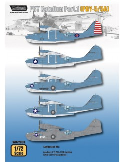 Wolfpack WD72003, PBY Catalina Part.1 (PBY-5/5A) (DECALS SET) ,SCALE 1/72