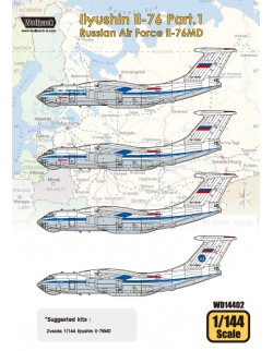Wolfpack WD14402,Ilyushin Il-76 Part.1 - Russian Air F (DECALS SET) ,SCALE 1/144