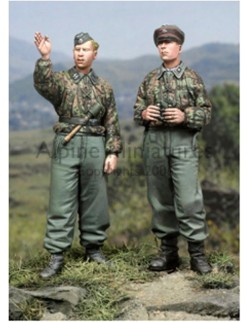 ALPINE MINIATURES 35044, SS Panzer Recon Crew Set (2 figures), SCALE 1:3