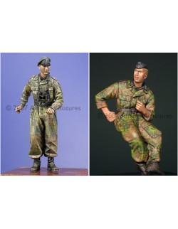 ALPINE MINIATURES 35032, Waffen SS Panzer Crew Set (2 figures) , SCALE 1:35