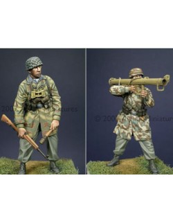 ALPINE MINIATURES 35022, German Para Anti-Tank Team (2 figures) , SCALE 1:35