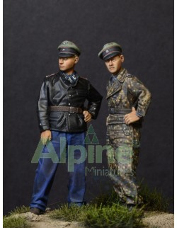 ALPINE MINIATURES 35122, Tiger Aces in Normandy (2 Figures), SCALE 1:35