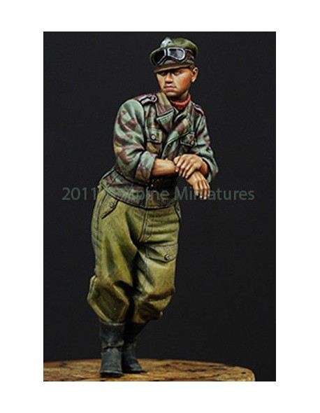 ALPINE MINIATURE WAFFEN SS PANTHER CREW #2 WWII  Scala 1:35 Cod.AP35106