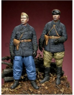 ALPINE MINIATURES 35041, WW2 Russian Tank Crew Set (2 figures), SCALE 1:35