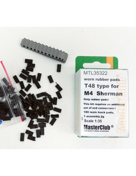 MasteClub MTL35322 1/35 Worn rubber pads T48 type for M4 Sherman