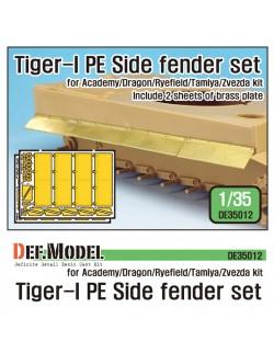 DEF.MODEL, DE35012, German Tiger-I Tank Side fender set (for 1/35 Tiger-I , 1:35