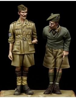 British NCO & Scottish Highlander Western Desert WW II, The Bodi, TB-35097, 1:35