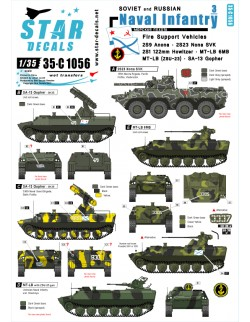 Star Decals, 35-C1056, Decal for Soviet and Russian Naval Infantry  3, 1:35