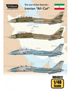 "Wolfpack WD48012, The Last Active Tomcats - Iranian ""Ali(DECALS SET), SCALE 1/48"