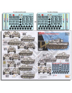 ECHELON FD AXT351012, 1/35 Decals for 8. SS-Pz.Rgt. 2 Tiger Is