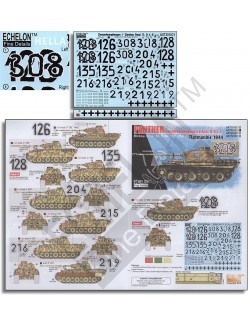 ECHELON FD AXT351031,1/35 Decals for 12. SS-Pz.Div. Panthers (Pt.1) Normandie 44