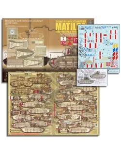 ECHELON FD ALT352011 ,1/35 Decals for Matildas in North Africa, Malta & Crete