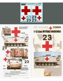 ECHELON FD D356056, 1/35 Decals for 1-12 Cav M113A3 MEDEVAC (OIF)