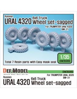 DEF. MODEL, URAL 4320 Truck Sagged Wheel set, DW35060, 1:35