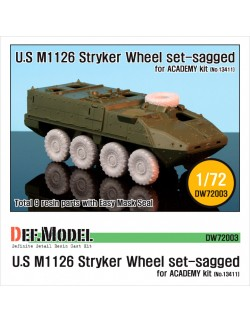 DEF. MODEL, M1126 Stryker Sagged Wheel set (for ACADEMY/Trumpete), DW72003, 1:72