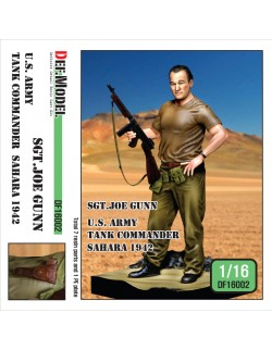 DEF. MODEL, U.S. Army Tank commander in Sahara 1942 , DF16002, 1:16