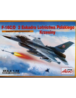 F-16 C/D of 3 TACTICAL SQUADRON POLISH AIR FORCE , AEROLAST 00288 , SCALE 1/72