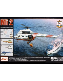 MILL Mi-2 MILITARY HELICOPTER–NAVY VERSION, AEROPLAST, 90035, 1/48