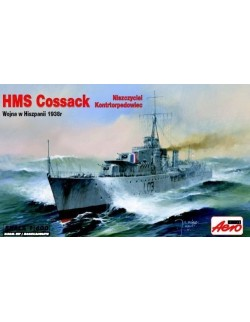 HMS COSSACK - WWII TRIBAL-CLASS DESTROYER , SCALE 1/600, AEROPLAST