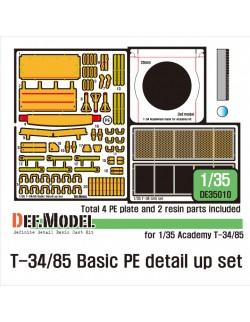 DEF.MODEL, DE35010, T-34/85 Basic PE detail up set (for 1/35 Academy kit) , 1:35