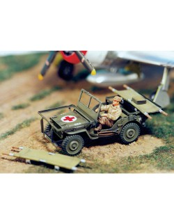 SOL RESIN FACTORY, MM102, 1:48, WILLIS M.A.S.H JEEP - FULL RESIN KIT