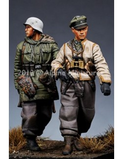 ,ALPINE MINIATURES 35153, WSS Grenadier Set (2 Figures) SCALE 1:35