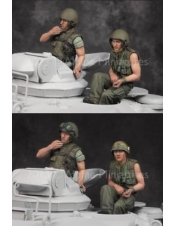 ,ALPINE MINIATURES 35162, US Tanker Vietnam War Set (2 Figures) SCALE 1:35
