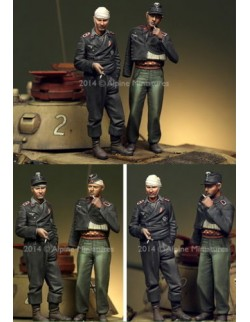 ,ALPINE MINIATURES 35183, German Panzer Crew Set, SCALE 1:35