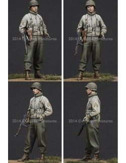 ,ALPINE MINIATURES 35184,  WW2 US Infantry NCO, SCALE 1:35