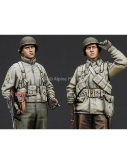 ,ALPINE MINIATURES 35186, WW2 US Infantry Set (2FIG.),  SCALE 1:35
