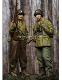 ,ALPINE MINIATURES 35204, WW2 US Infantry Set,  SCALE 1:35