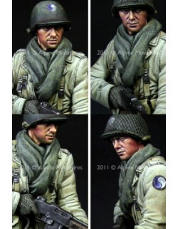 ALPINE MINIATURES 16012, BAR Gunner US 29th Infantry Division (1 figure), SCALE 1:16