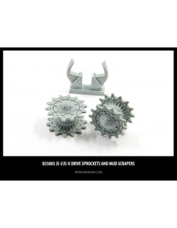 MINIARM 1:35, B35003,IS-I / IS-II Drive Sprockets and Mud Scrapers complete set