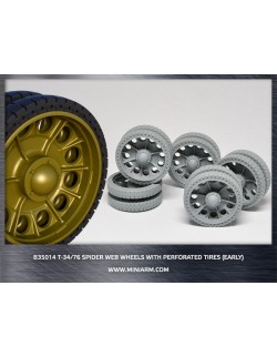 MINIARM 1:35, B35014, T-34/76 Spider web wheels with perforated tires (early type)