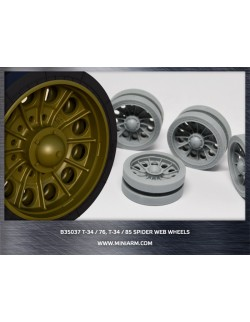 MINIARM 1:35, B35037, T-34/76, T-34/85 Spider web wheels