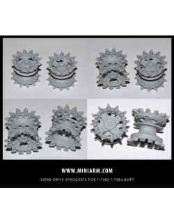 MINIARM 1:35, B35098, Drive sprockets for T-72A_T-72B, T-90MC, T-14 ARMATA, BMPT