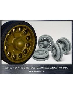 MINIARM 1:35, B35156, T-34/76 Spider web road wheels set (narrow type)