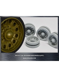 MINIARM 1:35, B35157, T-34/85 Spider web road wheels set (late type)