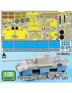 DEF. MODEL ,DE35027, WWII German Panther G late Full PE set (for Academy) ,1:35