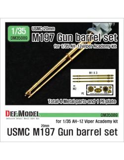 DEF. MODEL ,DM35089, USMC 20mm M197 Gun metal barrel set for 1/35 AH-1Z V ,1:35