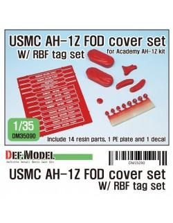 DEF. MODEL ,DM35090, USMC AH-1Z FOD cover w/ RBF tag set for 1/35 AH-1Z Vi ,1:35