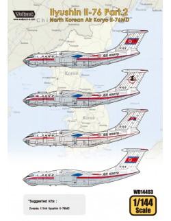 Wolfpack WD14403,Ilyushin Il-76 Part.2 - Korean (DECALS SET) ,SCALE 1/144