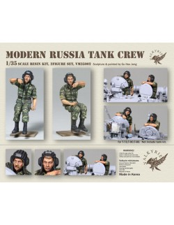 VALKYRIE MINIATURES, VM35002, Modern Russian Tank Crew (2 Figures) in scale 1:35