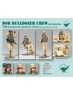 VALKYRIE MINIATURES, VM35003, D9R Bulldozer Crew - USMC in Iraq 2004 (3 Figures) in scale 1:35