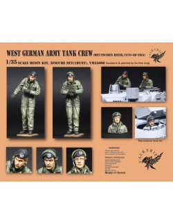 VALKYRIE MINIATURES, VM35006, West German Army Tank Crew - 1970~80 Era (2 Figures and 1 Bust)in scale 1:35
