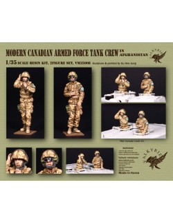 VALKYRIE MINIATURES, VM35005, Modern Canadian Armed Force Tank Crew in Afghanistan (2 Figures) in scale 1:35