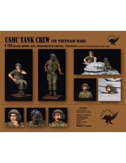VALKYRIE MINIATURES, VM35010, USMC Tank Crew IN Vietnam War (2 Figures and 1 Bust) in scale 1:35