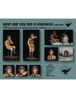 VALKYRIE MINIATURES, VM35013, Soviet Army Tank Crew in Afghanistan - 1980 Era (2 Figures and 1 Bust) in scale 1:35