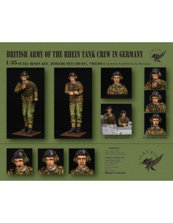 VALKYRIE MINIATURES, VM35014, British Army of Rhein Tank Crew in Germany - 1960 ~ 70 Era (2 Figures and 1 Bust) in scale 1:35